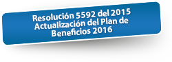 Resolución 5592 del 2015 Actualización del Plan de Beneficios 2016