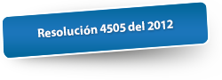 Resolución 4505 del 2012