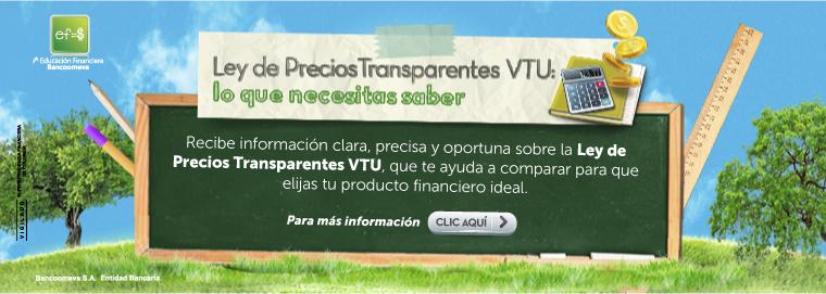 Ley de Precios transparentes VTU