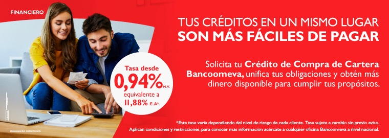 Credito de compra de cartera Bancoomeva